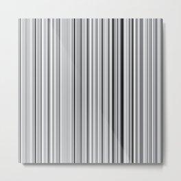 Old Skool Stripes - 50 Shades of Gray Metal Print