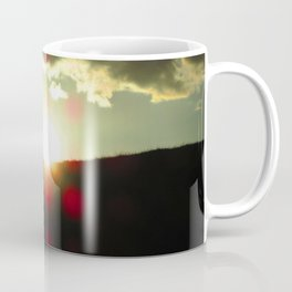 Sunset over the hill Coffee Mug