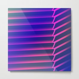 Geometric Vertical Metal Print