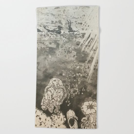 MoonSea EcoSystem Black and White Beach Towel