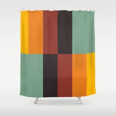 Stripes and swatches Shower Curtain