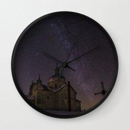 Church Nightscape 3 Wall Clock