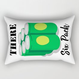 Six Pack Funny Dad Bod Beer Belly Abs Muscles Funny Rectangular Pillow