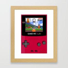 games we play Framed Art Print