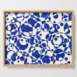 Blue Circle Composition Serving Tray
