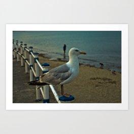 Beach King Art Print