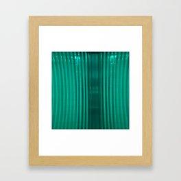bathroom glass and subway tile Framed Art Print