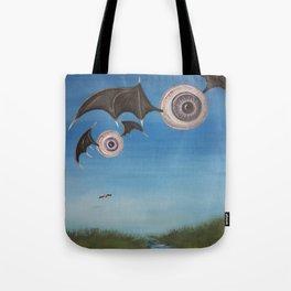 Flying Eyeballs Tote Bag