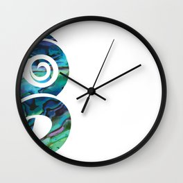 Tiki White Wall Clock