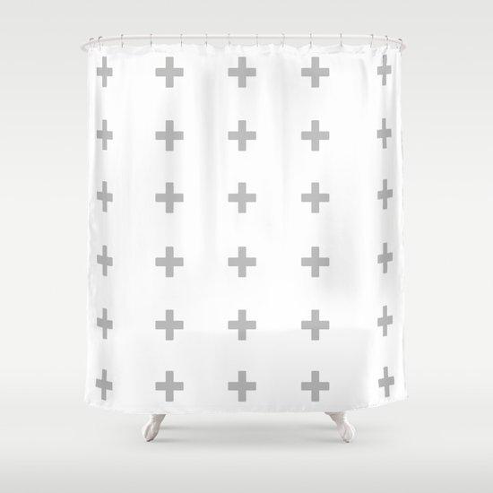 +++ (Gray) Shower Curtain