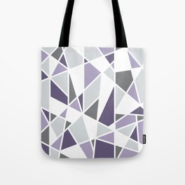 Geometric Pattern in purple and gray Tote Bag