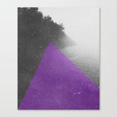 NEON NATURE   Purple Canvas Print