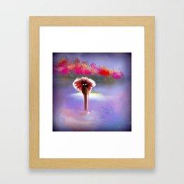 Whimsical Skinny Dipper Framed Art Print