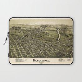 Aerial View of Meyersdale, Pennsylvania (1900) Laptop Sleeve