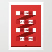 arsenal Art Prints featuring Arsenal FC by Tensugars by M&W