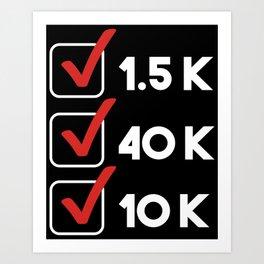 Triathlon Checklist Art Print