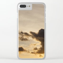 the sky during sunset Clear iPhone Case