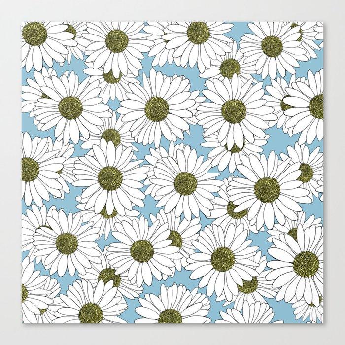 Daisy Blue Canvas Print