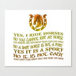 The Best Horse Ever! Canvas Print