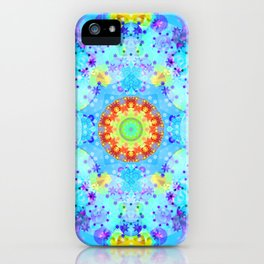 Blue Star Hippie Mandala Pattern iPhone Case