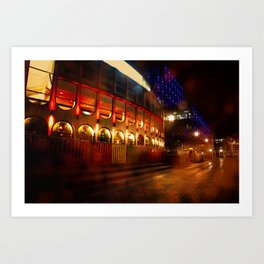 Birmingham Centenary Square At Night Art Print