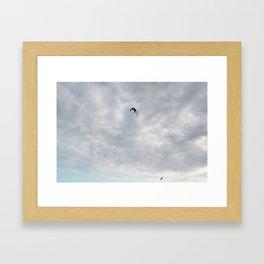 Swallow sky Framed Art Print