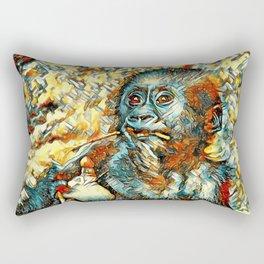 AnimalArt_Gorilla_20180202_by_JAMColorsSpecial Rectangular Pillow