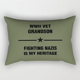 WWII Grandson Heritage Rectangular Pillow