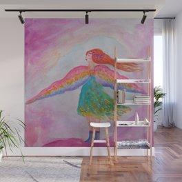 Rainbow Wings Wall Mural