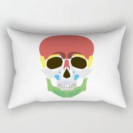 Rasta Skull Rectangular Pillow