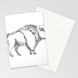 American Buffalo Doodle Art Stationery Cards
