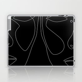 White line couple Laptop & iPad Skin