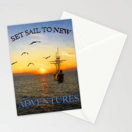New adventures painting - by Brian Vegas Stationery Cards