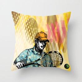 Tennis Backhand Throw Pillow