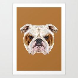 English Bulldog // Natural  Art Print