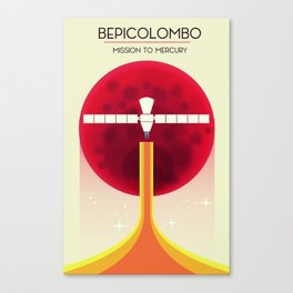 BepiColombo Mission to Mercury Canvas Print
