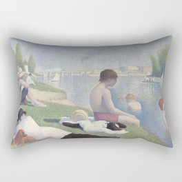 Bathers at Asnières Rectangular Pillow