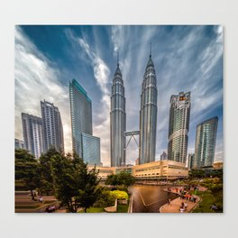 Twin Towers KL Canvas Print