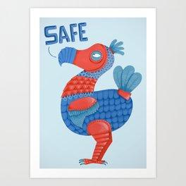Safe Dodo Art Print