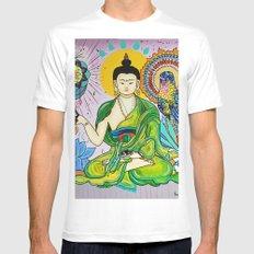 Buddha Freedom Nirvana White MEDIUM Mens Fitted Tee