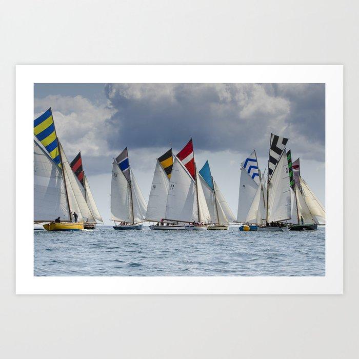 Falmouth Working Boats Kunstdrucke