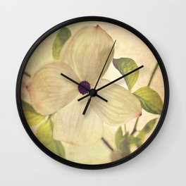 dogwood closeup Wall Clock
