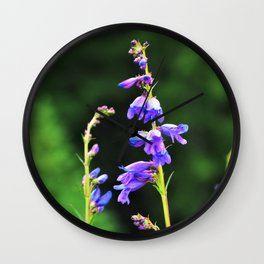 Wildflower Beauties - Purple 2 Wall Clock