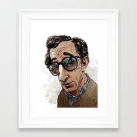 woody allen Framed Art Prints featuring Woody Allen by Mitt Roshin