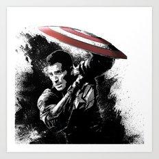 Steve Rogers: Shadow Edition Art Print