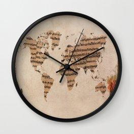 music world map Wall Clock