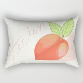 Feeling peachy Rectangular Pillow
