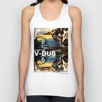 volkswagon Tank Tops featuring Bug Life by sysneye