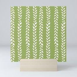 Sap Vines - nature spring leaves green pattern Mini Art Print