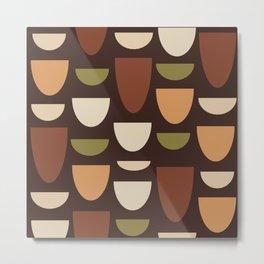 Brown & Orange Bowls Metal Print